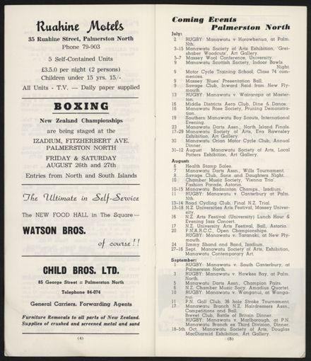 Visitors Guide Palmerston North: July-September 1966 - 5