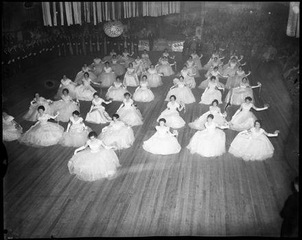 """Mass Curtsey"" - Debutantes at the Catholic Charity Ball"