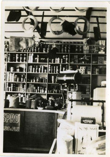 Inside Arthur Kearns' Four Square grocery store