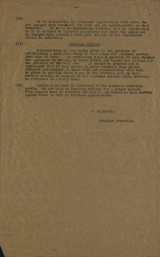 Women's War Service Auxiliary Memorandum No. 39 Page 3