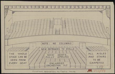Plan of seating at Municipal Opera House