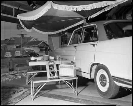 """An Innovation in Summer Comfort"" Demountable Car Awning"