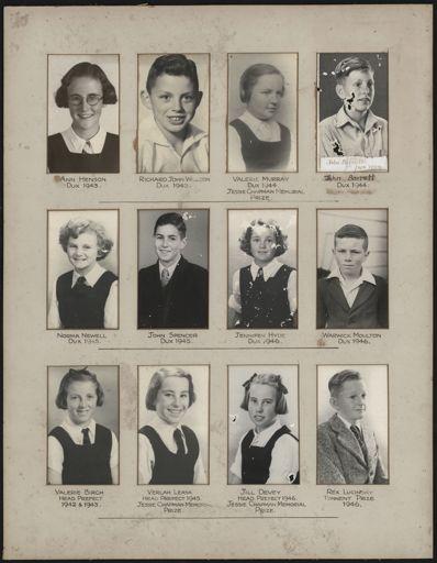 Terrace End School Student Leaders, 1943/1946
