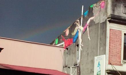 """Rainbow over George Street Mural"""