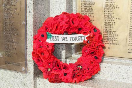 ANZAC Day 2016 - Library Memorial Wreath