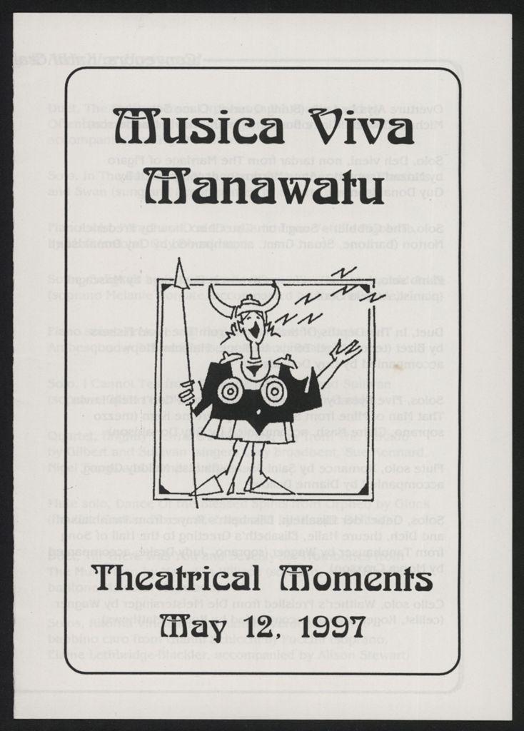Musica Viva Manawatū - concert programme