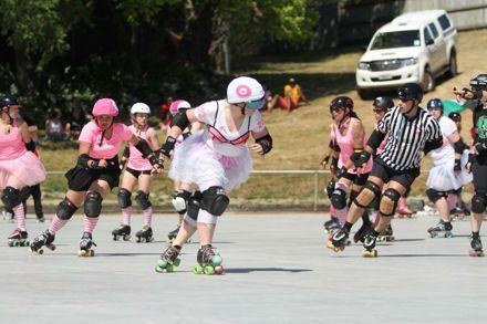 NZ first outdoor Roller Derby Bout