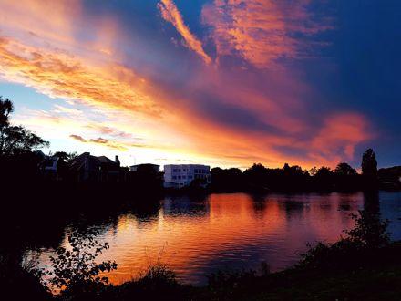 Sunset over Hokowhitu Lagoon