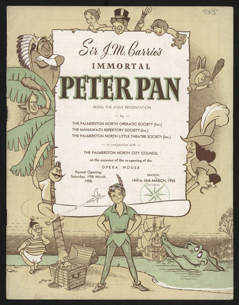 Peter Pan Programme, Palmerston North Opera House1