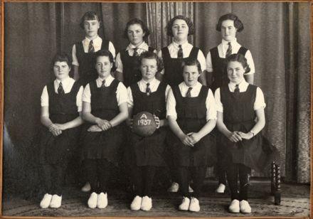 Palmerston North Technical School Netball A, 1937