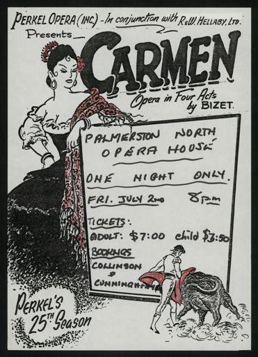 Carmen' performance poster