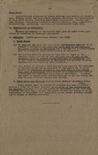 Women's Land Service Rules 4