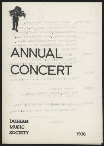 Dorian Music Society - Annual Concert