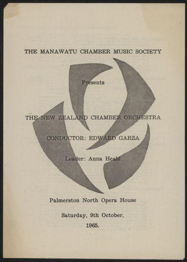 Manawatū Chamber Music Society - concert programme