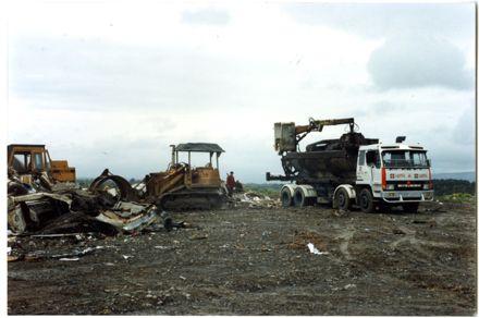 Trucks at Awapuni Landfill