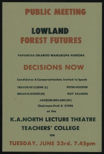 Lowland Forexst Futures public meeting notice