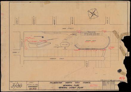 Set of plans for Memorial Park development