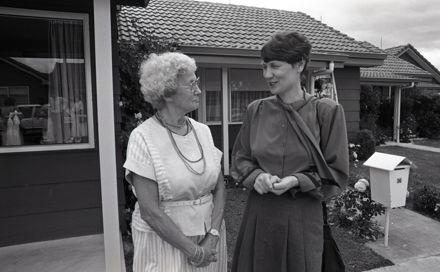 Housing Minister Helen Clark Visits PNCC Pensioner Housing Complex