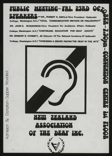 Association of the Deaf poster