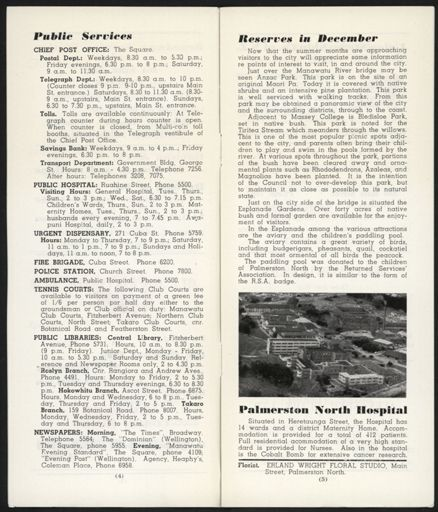 Visitors Guide Palmerston North and Feilding: December 1960 - 4