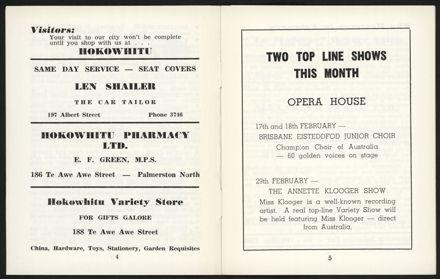 Palmerston North Diary: February 1960 - 4