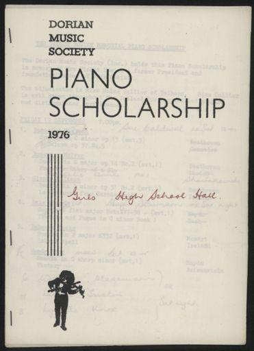 Dorian Music Society - Piano Scholarship concert