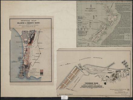 Maps relating to the Wellington & Manawatu Railway Company