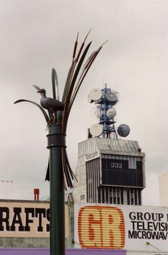Pukeko and Raupo [Sculpture]