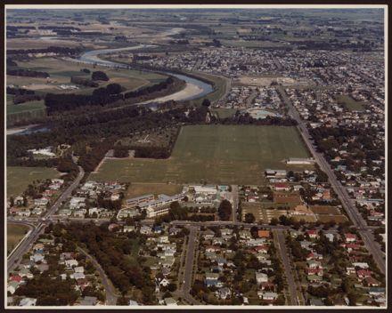 Aerial view of Palmerston North Girls' High School