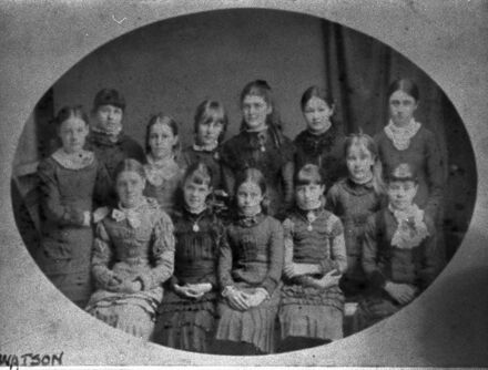 Girl pupils, first state school