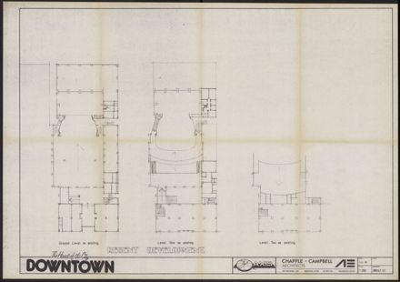 Downtown Shopping Centre and Theatre Complex Architectural Plans -3