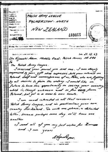 Polish Army League correspondence
