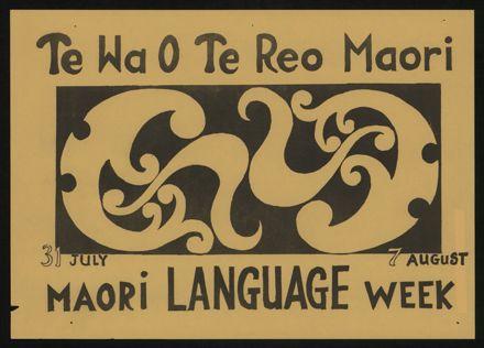 Maori Language Week poster