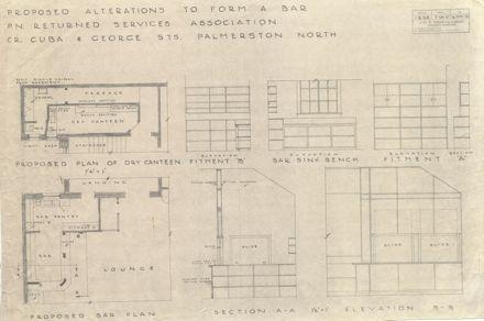 Soldiers' Club Building - Alterations, Plans & Details, 1945
