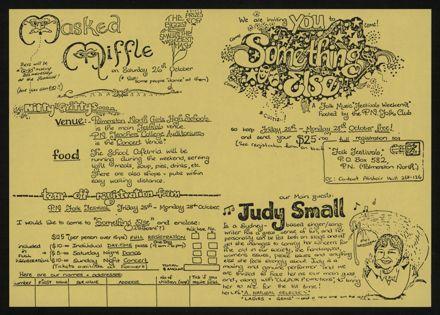 Palmerston North Folk Festival pamphlet
