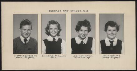 Terrace End School Student Leaders, 1958