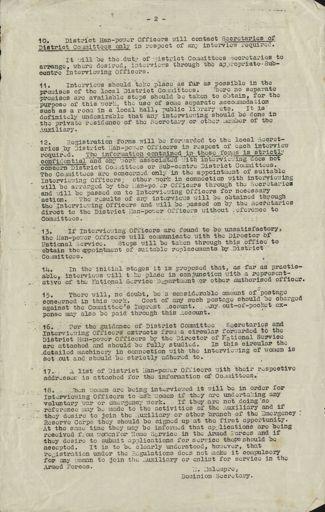 Women's War Service Auxiliary Memorandum No. 47 Page 2