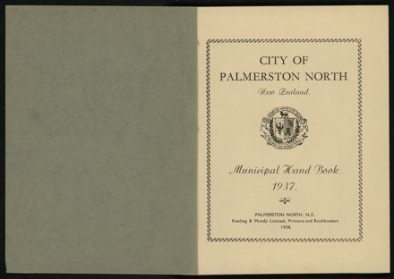 City of Palmerston North Municipal Hand Book 1937 2