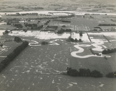 Flooding of farmland next to Awapuni Racecourse