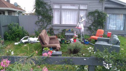 Front lawn lounge art