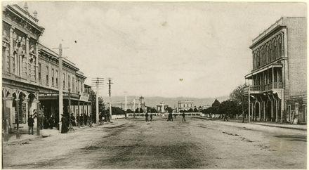 Looking down Rangitikei Street towards The Square