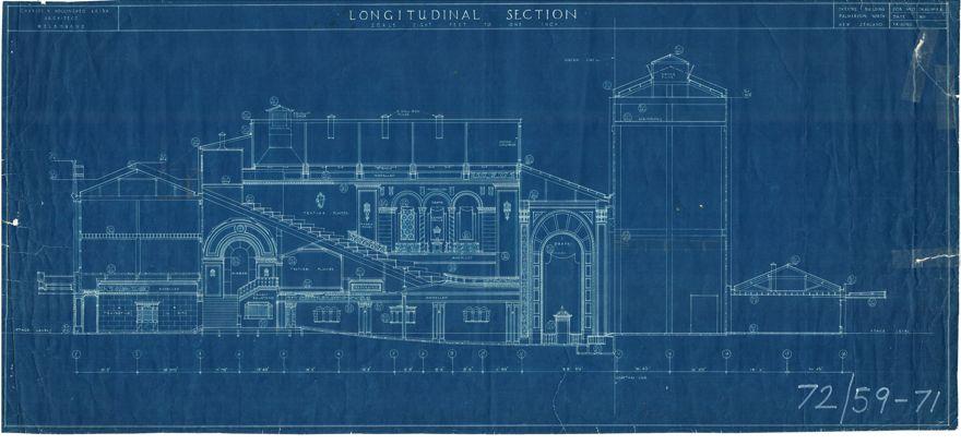 Regent Theatre - blueprints