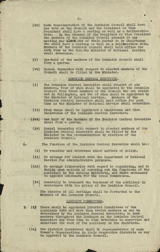 Women's War Service Auxiliary Constitution document  Page 2