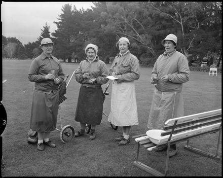 """Women Golfers Enjoy Refreshments"""