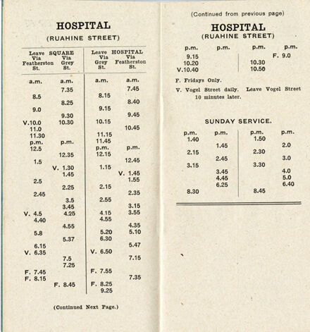 Page 6: Bus, Baths and Library Timetable
