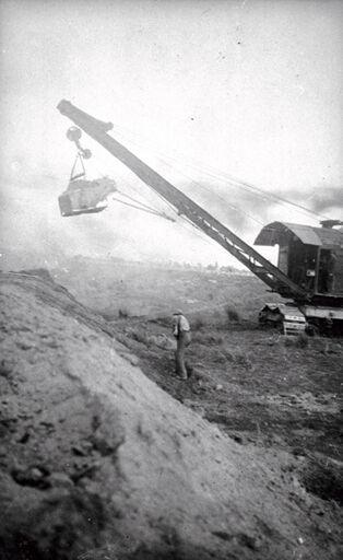 Creation of Stopbank - Steam Shovel