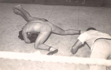 Mark Nicholls wrestling match