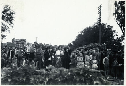 Crowds Watching Parade - 1952 Jubilee Celebrations