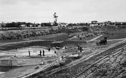 Construction of Fitzroy Park