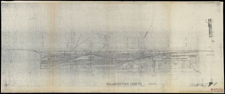 Plan of the railway goods yard in Palmerston North